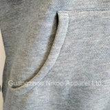 Custom шелк хлопок Pullover Hoodies трафаретной печати