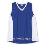 Camisa del lacrosse del diseño de Healong de la ropa del traspaso térmico de los hombres frescos de la impresión