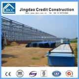 Colorear el edificio de la fábrica de la estructura de acero de la placa de acero