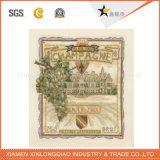 Customi Shape Adhesive Label Printing Etiqueta de garrafa de vidro de vinho tinto