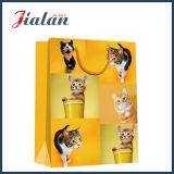 glatter lamellierter 128GSM Kunstdruckpapier-Katze-kaufengeschenk-Papierbeutel