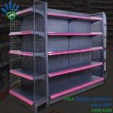 Supermarkt-Metallversah multi Schicht-Doppeltes Gondel-Bildschirmanzeige-Regal mit verschiedenen Farben mit Seiten