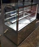 De roestvrij staal Gekoelde Showcase van de Bakkerij, de Koelkast van de Vertoning van de Cake voor Koffie