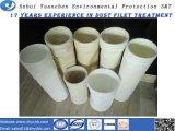 Materiale del poliestere del sacchetto filtro del collettore di polveri con la cosa repellente di acqua e del petrolio