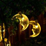 Luces solares para al aire libre, Wedding, fiesta de Navidad (amarillo) de la cadena de la luna