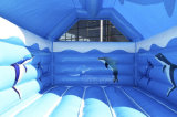 Dolphin castillo inflable saltando de la casa de rebote/Gorila inflable Castillo CB3001