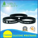 Incandescenza luminosa di vendita calda nel Wristband poco costoso scuro del silicone
