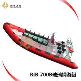 Crogiolo gonfiabile rigido di barca di tuffo della barca della nervatura del passeggero di Rib700 7meters da vendere