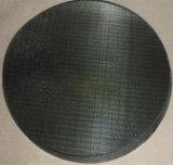 Los holandeses tejen el disco negro del paño de acoplamiento de alambre/la pantalla de filtro plástica del estirador