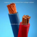 Cable de alambre eléctrico aislado PVC de cobre de RoHS del conductor