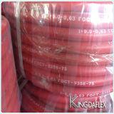 Rote Farben-Gummiacetylen-Schlauch mit glattem Deckel