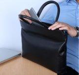Saco para computador de couro italiano genuíno homens transportar o saco de moda do laptop