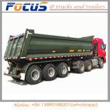 아주 새로운 후부 덤프 팁 주는 사람 쓰레기꾼 트랙터 트레일러 60 톤 3 반 차축