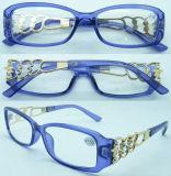 Vidrios plásticos de Readimng de las mujeres R14249 con la decoración del metal