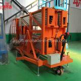 elevación móvil eléctrica hidráulica del hombre doble superventas del mástil de los 6m 200kg China con precio de fábrica