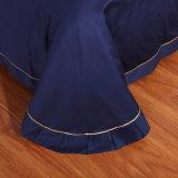 Conjunto moderno sólido 100% de la cubierta del Duvet del edredón del lecho del bordado del algodón