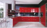 Роскошный дизайн блестящих High Gloss красным лаком кухонные шкафы
