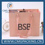 로즈 황금 분홍색 오프셋 인쇄 선물 종이 봉지 (CMG-MAY-017)