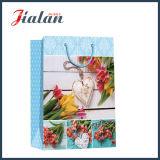 Оптовый мешок подарка несущей конструкции цветков напечатанный 4c бумажный