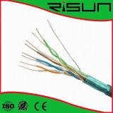 cable del ftp Cat5e del cable de LAN de 4pr 24AWG con el Ce/RoHS de la ISO