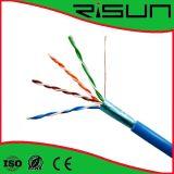 кабель FTP Cat5e кабеля LAN 4pr 24AWG с Ce/RoHS ISO/
