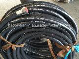 Boyau 4sh en caoutchouc hydraulique spiralé à quatre fils à haute pression d'en 856 DIN