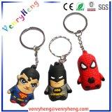 Gomma promozionale Keychain del PVC del fumetto personalizzata 3D