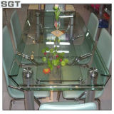 明確な机のための浮遊物によって強くされるガラス