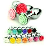 Enchufe anal del tope de la flor de 13 de los colores de Rose del enchufe juguetes del sexo