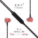 Micが付いているイヤホーンを取り消す中国OEMのロゴの耳の騒音
