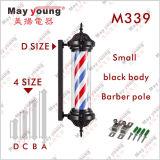 Heißes Schwarz-drehendes Herrenfriseur-System Pole des Verkaufs-M339