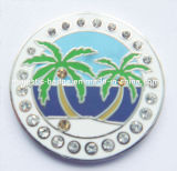 Marqueur de balle de golf personnalisé plaqué argent (Hz-1001-053)