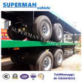 Due dell'asse 40FT della base del carico rimorchio del camion semi per uso del contenitore