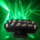La disco allume la tête mobile d'araignée de faisceau des lumières DEL du DJ d'éclairage du DJ