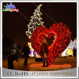 Popular City Landscape LED Christmas Heart Outdoor Decoração Light