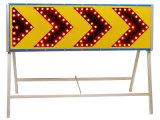 Poteau de signalisation de sens de flèche à droite de DEL