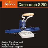 Manual de sobremesa Boway S-200 Cortador de vuelta de la esquina de la máquina de corte de papel con el artículo