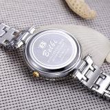 Montre-bracelet imperméable à l'eau de quartz de dames de chiffres romains de Belbi rétro