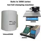 Adl 3050A Auto Imprimir en el pequeño logotipo estampado de lámina de oro en caliente Digital máquina impresora