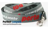 Тканый стропом с логотипом клиента, шейный ремешок, рекламный шнурок, держатель карточки строп предохранительного пояса