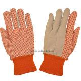Полотно сад рабочей перчатки с ПВХ точек