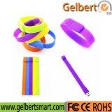 Bracelet coloré Bracelet en PVC USB Pen Drive