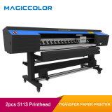 stampante del documento di trasferimento della tessile di sublimazione di 1.9m con 2 Epson 5113