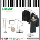 Chrome спираль одежду для установки в стойку (HBE-GS-11)