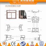 Portello scorrevole di verniciatura temperato doppio esperto dell'alluminio del fornitore di Foshan