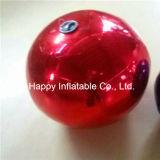 膨脹可能で赤くか青ミラーの球のAdvertisemenガラスの気球