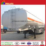 두 배 차축 공기 현탁액 연료 탱크 알루미늄 합금 유조선 트레일러