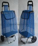Chariot à carreaux pliable avec tissu de maille net pour les légumes du supermarché