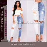 2018 Algodão de moda da menina Slim Skinny destruídos calças de ganga Jeans