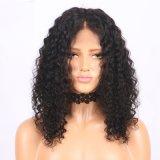 Фронта шнурка Dlme парик волос естественного черного курчавого синтетический
